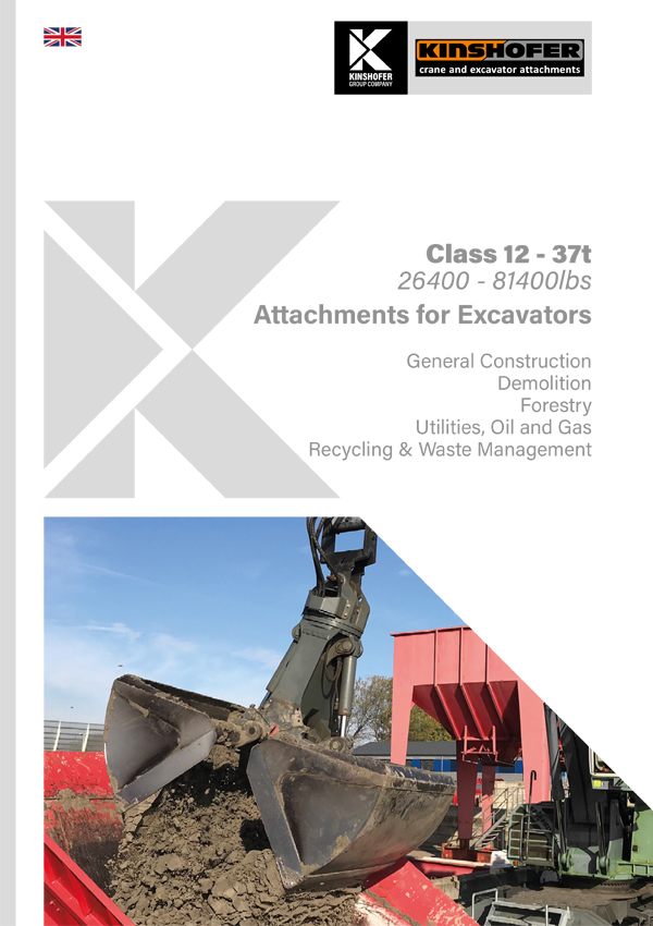 Attachments for Excavators - Class 12 - 37t Operating Weight