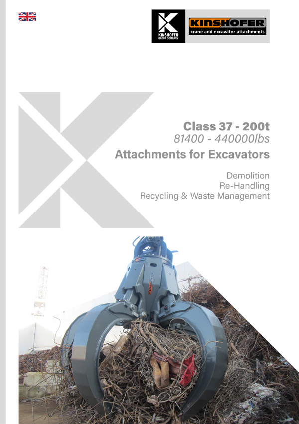 Attachments for Excavators - Class 37 - 200t Operating Weight