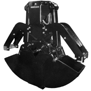 Clamshell Bucket C25VE without Rotator